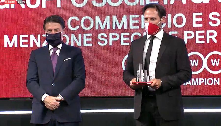 Premio Welfare Champion 2020 - Premiazione Gruppo SGR (Demis Diotallevi, Vicedirettore Generale)